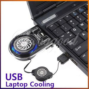 Air Extracting USB Case Cooler Cooling Fan Idea for Notebook Laptop