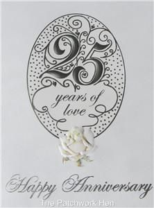 carol wilson fine arts 25th wedding anniversary card beautiful roses