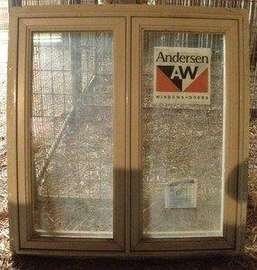NEW Anderson Crank Out Casement Double Window, Wood Vinyl 34 X36