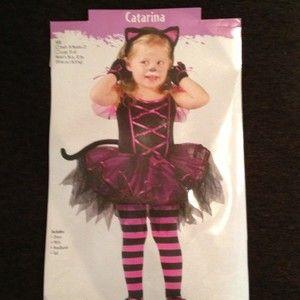 Kitty Costume BONUS w Tights Catarina 24M 2T HOT Pink Black CHEAP