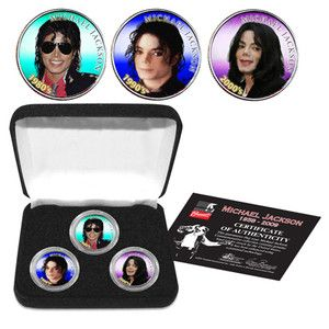 Michael Jackson Colorized Coin Collection Set in Collectors Box
