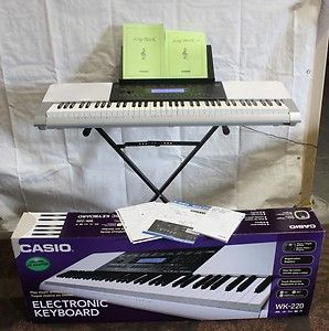 CASIO WK220 76 KEY ELECTRONIC KEYBOARD PIANO ORGAN BUTTON 1293
