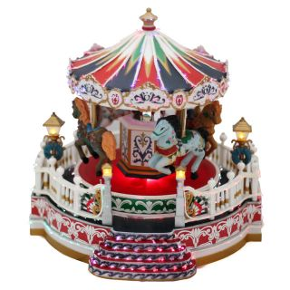 10 Christmas Musical Carousel Merry Go Round Playhouse