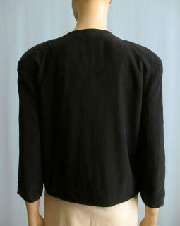 Walter Baker New Black Sandwashed Silk Jacket 10 12