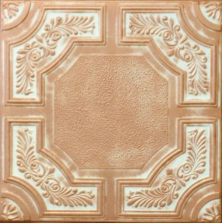 Antique Finish Ceiling Tile R28 White Copper Penny