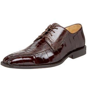 Belvedere CAVA Brown Ostrich Eel Mens Dress Shoes 9 13