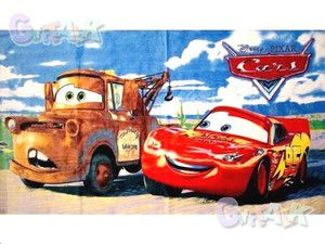 New Pixar Cars Car Lightning McQueen Cotton Bath Shower Towel C 43X25