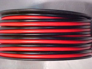 12ft CB Ham Amplifier Car Stereo 8 Gauge AWG Power Cord Cable Wire Red