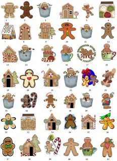 Gingerbread Christmas Return Address Labels Gift Favor Tags Buy 3 Get