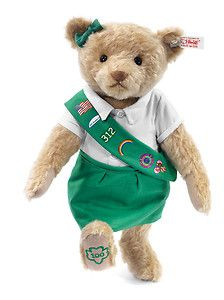 STEIFF Girl Scouts Centenary Teddy Bear USA Exclusive new 2012 taking