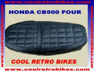 HONDA CB500 CB 550 SEAT ORIG OEM COVER W/ NEW CHROME TRIM STRIP