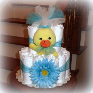 * Diaper Cake Baby Shower Centerpiece Decorations Rubber Ducky Bubble