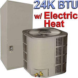 Central Air Conditioner 24 000 BTU AC w Electric Heat
