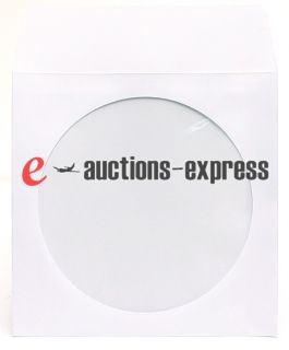 100 CD DVD Paper Sleeve Envelope Clear Window Flap 80g