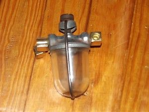 Vintage 1950s Carter Glass Bowl Fuel Filter Chevy Ford Dodge