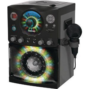 Karaoke Sound Disco Light Show CD Player Party Adult Kids Music