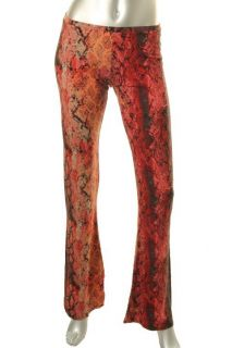 Moda New Multi Color Snake Print Flare Casual Pants s BHFO