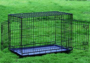 Extra Large 48 Two Door Dog Crate Cat Cage Kennel German Shepherd