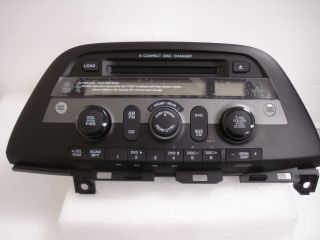09 2010 HONDA Odyssey Radio Stereo 6 Disc Changer  CD Player XM DVD