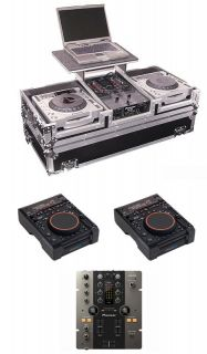 CMP800 CD/MP3/Dual USB DJ Player (Pair) + Pioneer DJM 250 DJ Mixer