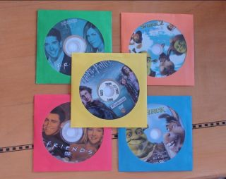100 Paper Sleeve Flap Clear Window Case for CD DVD R