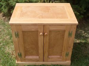 Custom Finished Wood Cat Litter Box Cabinet Playhouse