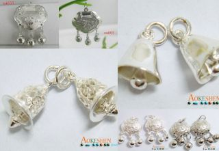 MULTI LANTERN 925 STERLING SILVER PLATED CHARM PENDANTS BEADS FIT