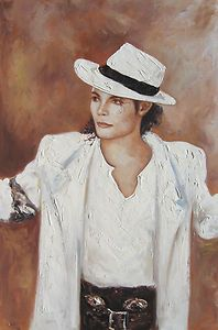 Casanova by Michael Jackson, 24x36 HIGH QUALITY OIL PAINTING   FREE