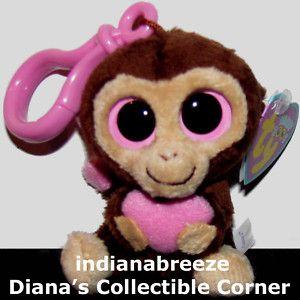 Key Clip Casanova Valentines Day Monkey Boos Ty Beanie Baby Boos New