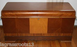 Vintage Art Deco 1946 Lane Cedar Hope Blanket Chest Trunk