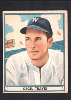 Cecil Travis 1941 41 Play Ball 48 Nationals Nice $60