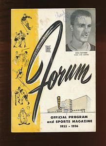 1955 56 HAMILTON TIGER CUBS VS ST CATHARINES TEEPEES PROGRAM