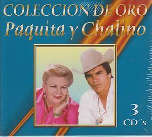 Paquita Y Chalino Sanchez CD NEW Coleccion De Oro 3 Disc 37 Exitos