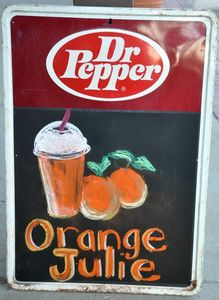 Vintage Dr Pepper Chalkboard Black Board Menu Sign