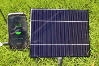 1A 5W Solar Cell Phone Charger Panel 5V USB Port HTC Samsung LG Charge