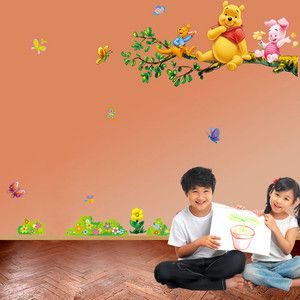 Disney Winnie The Pooh Flowers Wall Sticker Decor Vinyl Art Removable