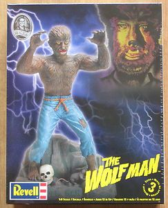 Aurora Revell The Wolf Man Lon Chaney Monster Model Kit WOW