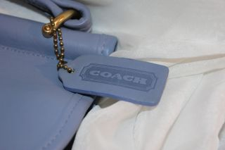 Coach Vtg Willis Periwinkle Leather Shoulder Hand Bag