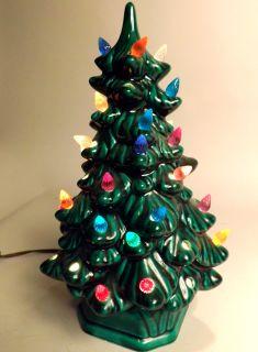 Ceramic 11 5 Light Up 2 Piece Christmas Tree Multi Colored Lights