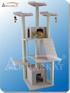 Armarkat Cat Tree B8201 Ivory 8 Level Cat Scratching Tower Condo Rope