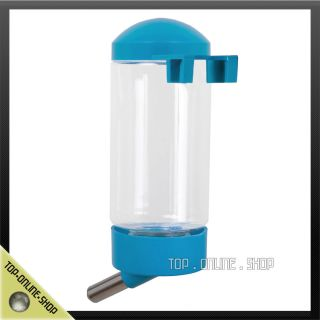 Blue Dog Cat Rabbit Pet 500ml Plastic Steel Ball Water Bottle Feeder