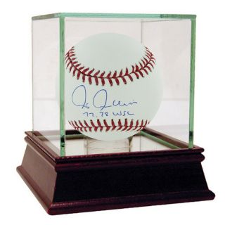 Chris Chambliss Signed MLB Baseball 77 78 World Champs