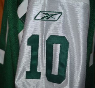 New York Jets Chad Pennington 10 Reebok NFL Sewn Football Jersey Mens