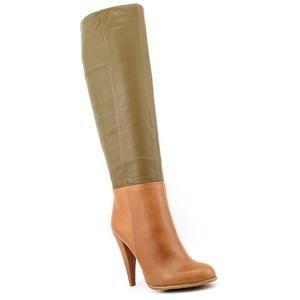 Charles David Powerful Womens Size 5 5 Brown Leather Fashion Knee High