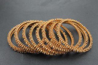 Chamak New Gold and Crystal Beaded Bangle Bracelet Jewelry Set BHFO