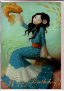 Happy Birthday Cards by Stephen Mackey Goldfish Set 3
