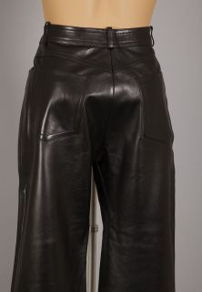 celine black lambskin leather jeans sz 38 $ 1900