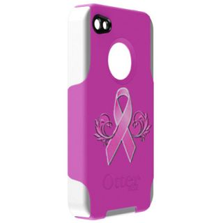 Apple iPhone 4 Otterbox Commuter Case Breast Cancer Awareness Limited