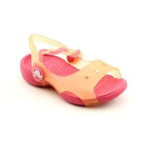 Crocs Chameleons Emelina Sandal Infant Baby Girls Size 5 Pink Open Toe