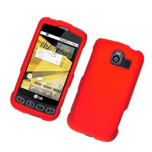 LG Optimus V Cell Phone Faceplates Cover Case Red 3